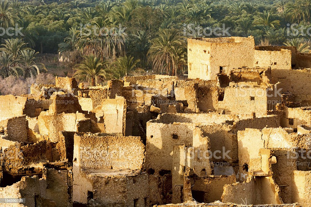 View of the Siwa is an oasis in Egypt stock photo