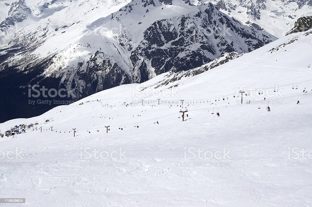 View of the ski resort royalty-free stock photo