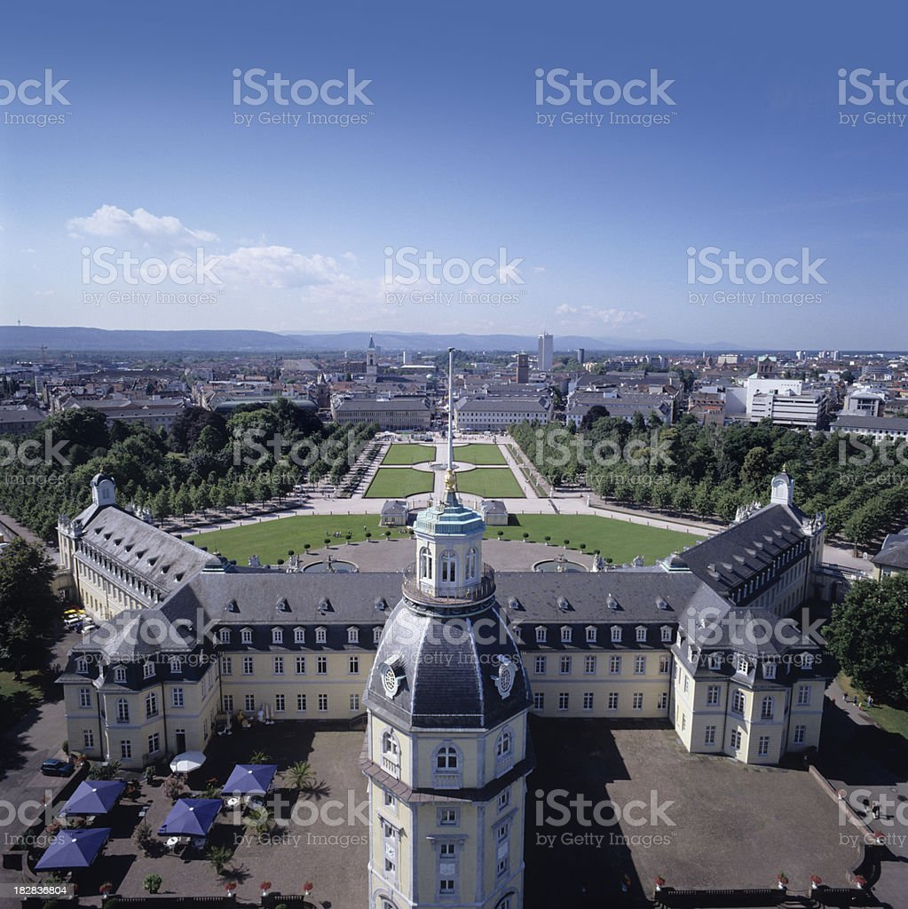 A view of the skyline of Karlsruhe, Germany royalty-free stock photo