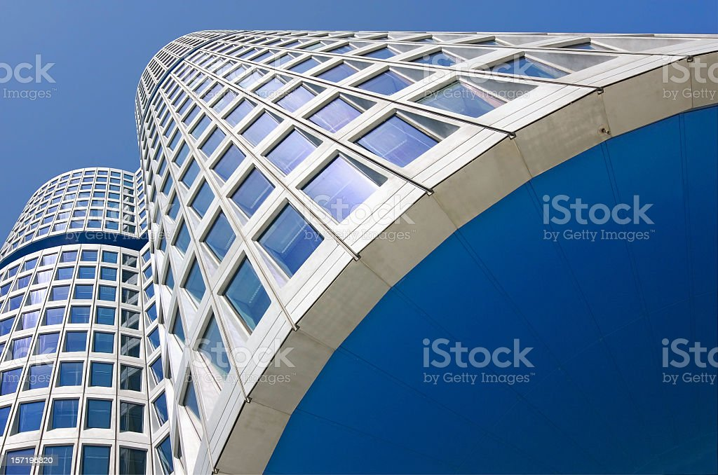 View of the skyscraper with tall buildings royalty-free stock photo
