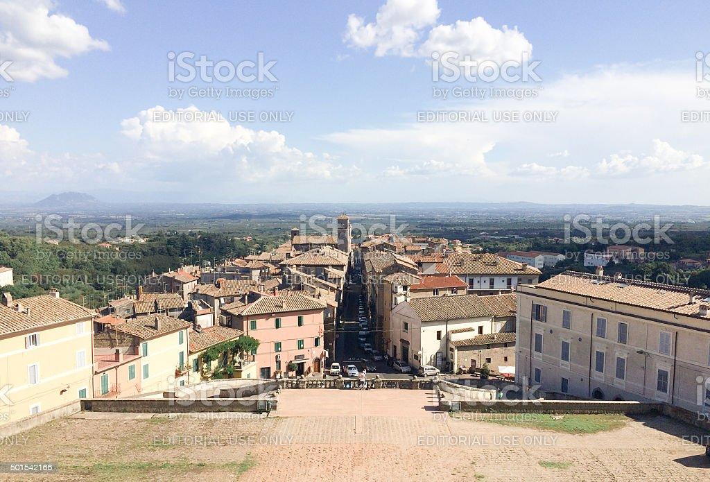 View of the small Italian city Caprarola stock photo