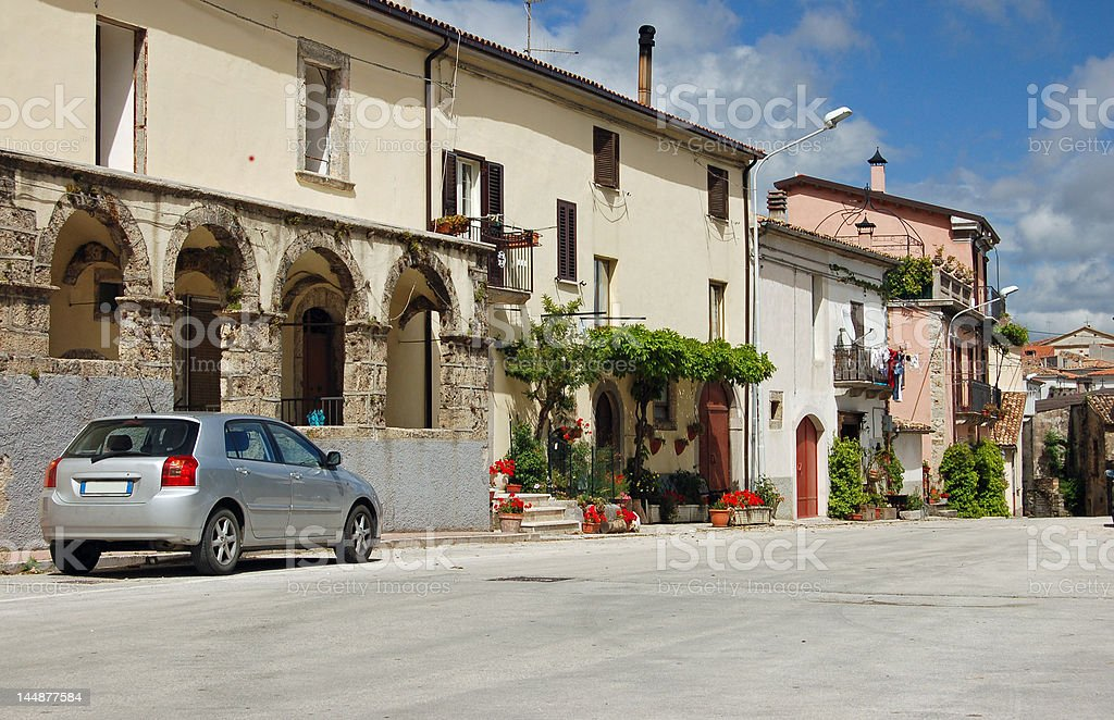 View of the small Italian village. royalty-free stock photo