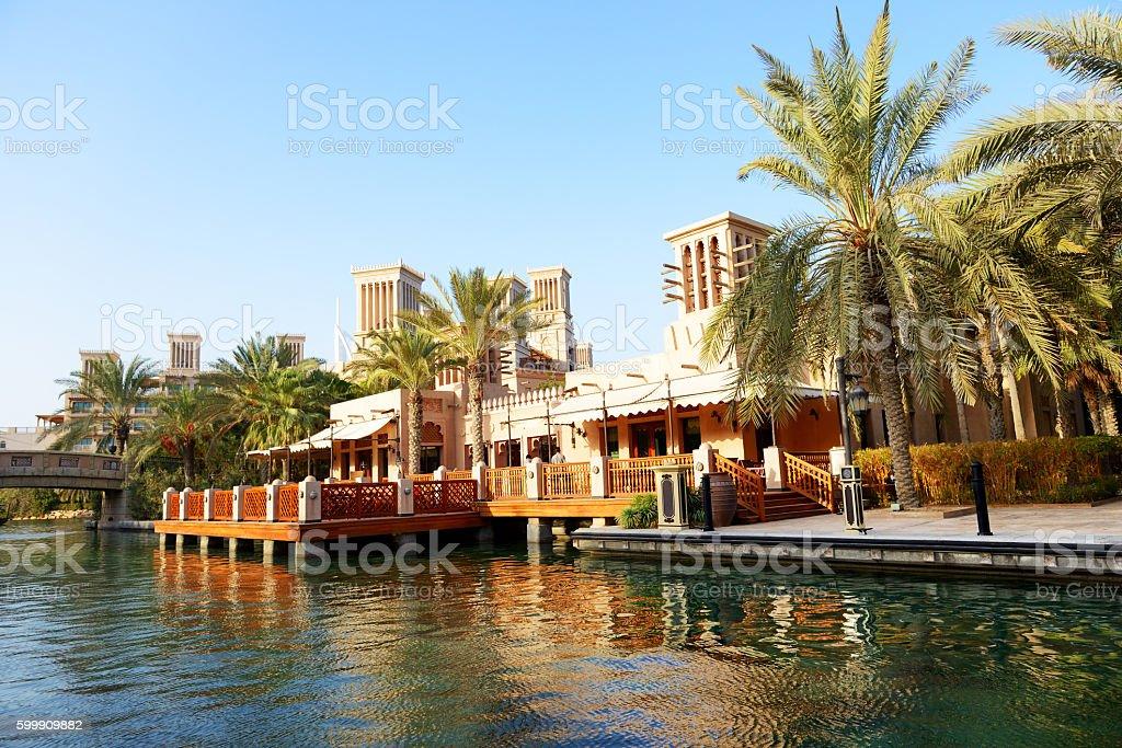 View of the Souk Madinat Jumeirah, Dubai, UAE stock photo