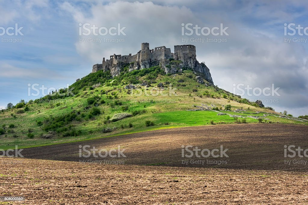 View of the Spis Castle in Slovakia stock photo