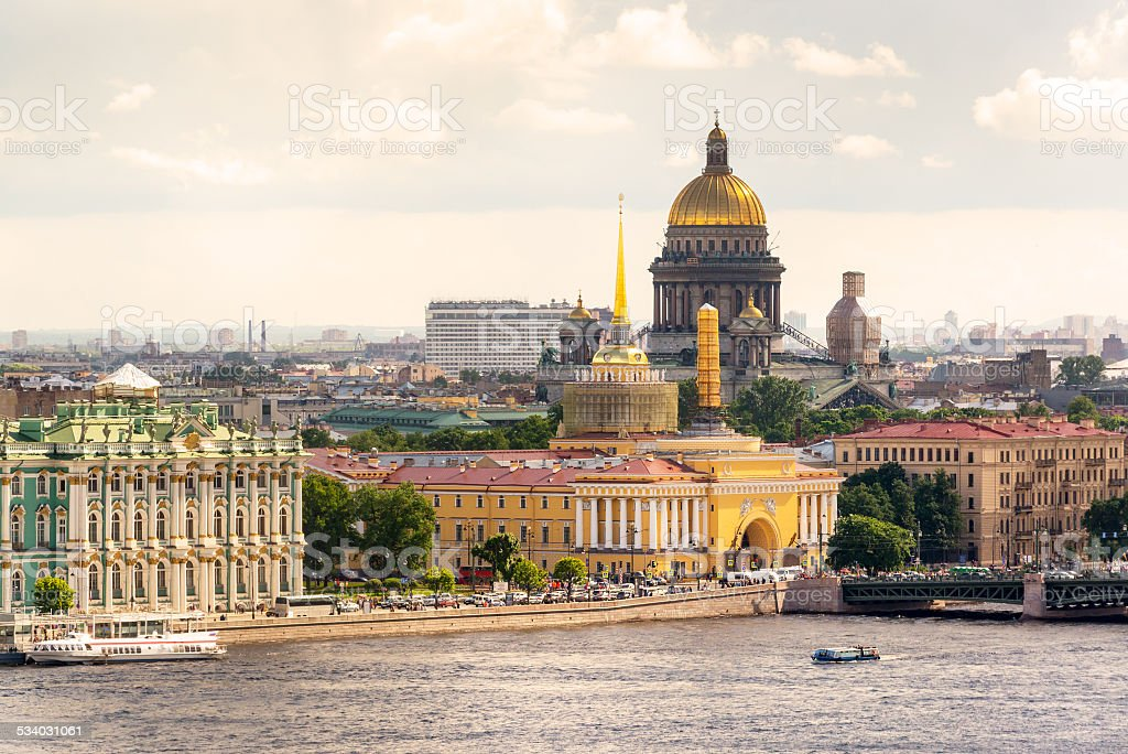 View of the St. Petersburg stock photo