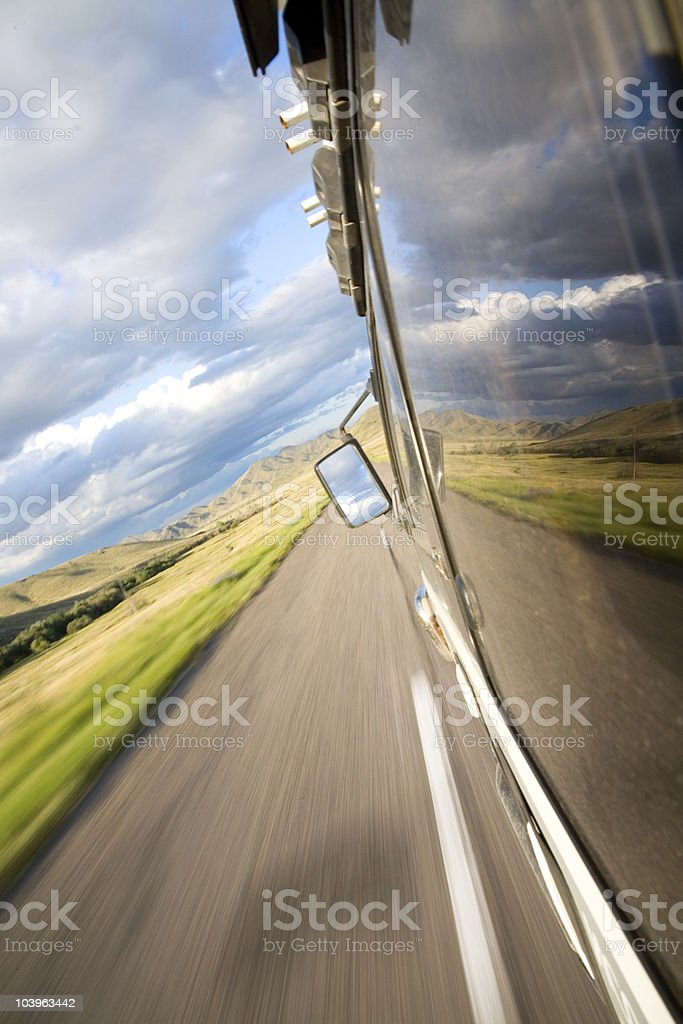 View of the steppe royalty-free stock photo
