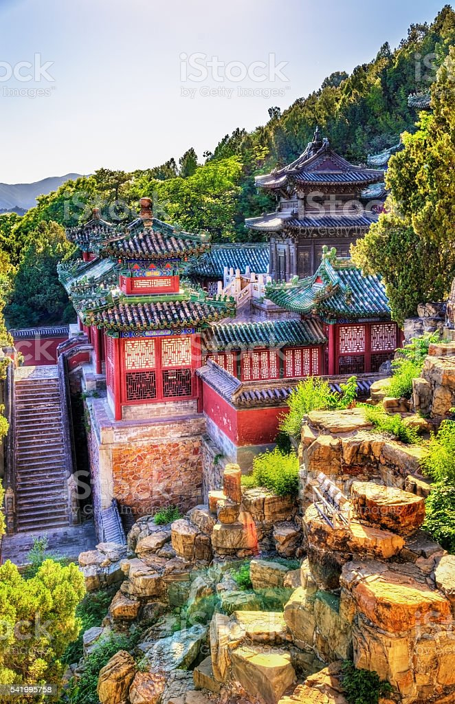 View of the Summer Palace in Beijing stock photo