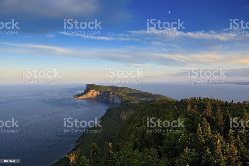 View of the sunset over Cap Bon Ami stock photo
