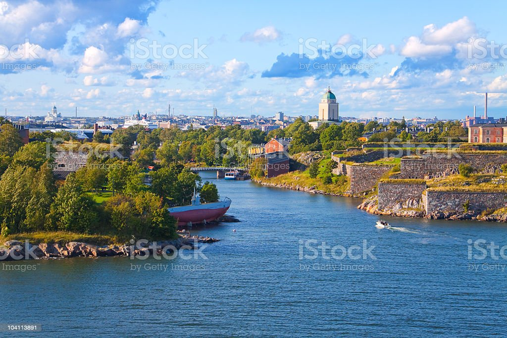 View of the Suomenlinna Fortress in Helsinki, Finland  royalty-free stock photo