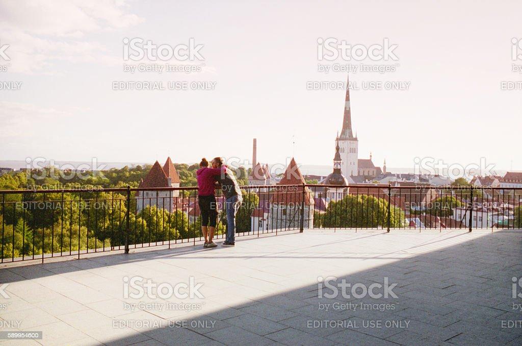 View of the Tallinn. Estonia stock photo