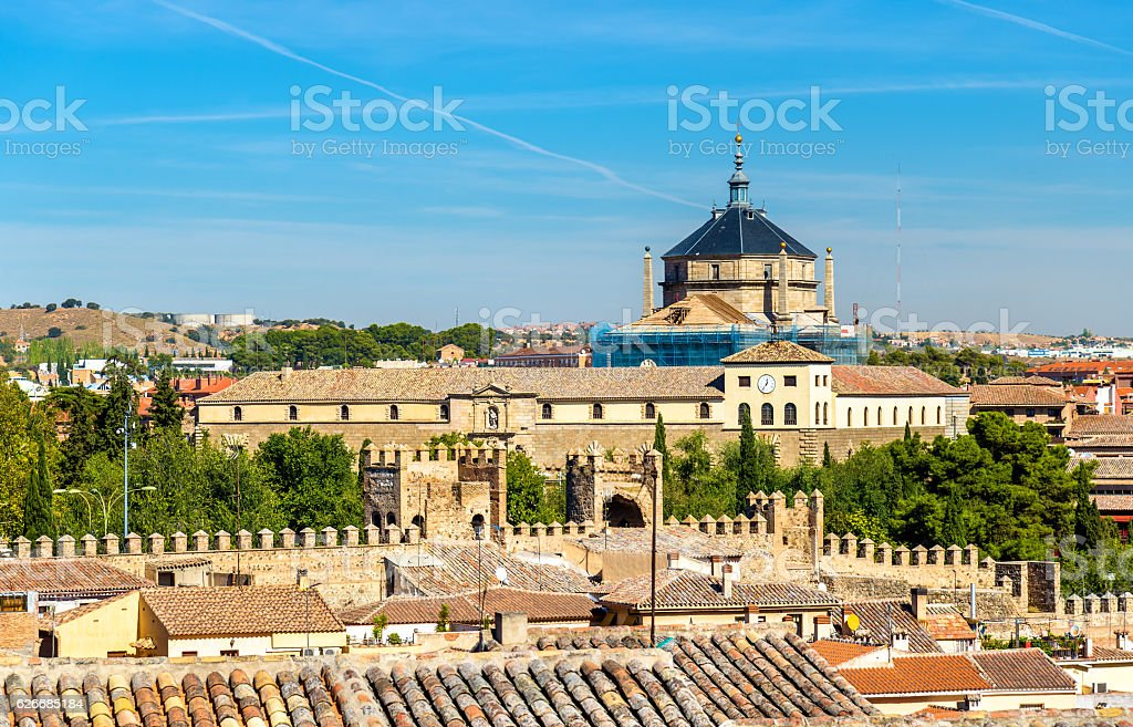 View of the Tavera Hospital in Toledo, Spain stock photo