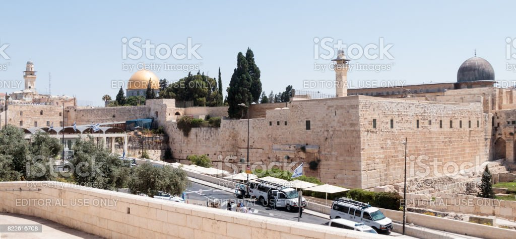 View of the Temple Mount in the Old City of Jerusalem, Israel stock photo