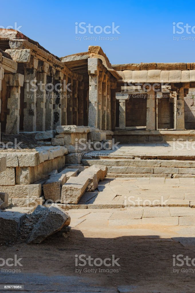 View of the temple of Bala Krishna in Hampi, India stock photo