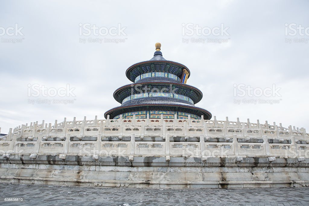 View of the Temple of Heaven,Beijing, China stock photo