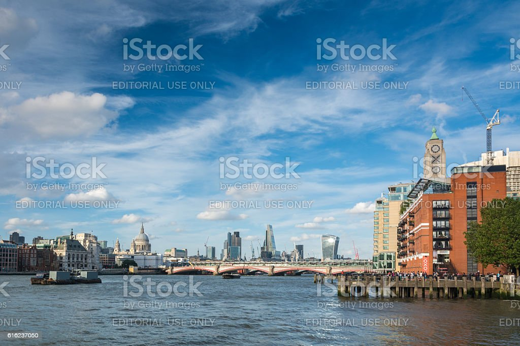 View of the Thames in London stock photo