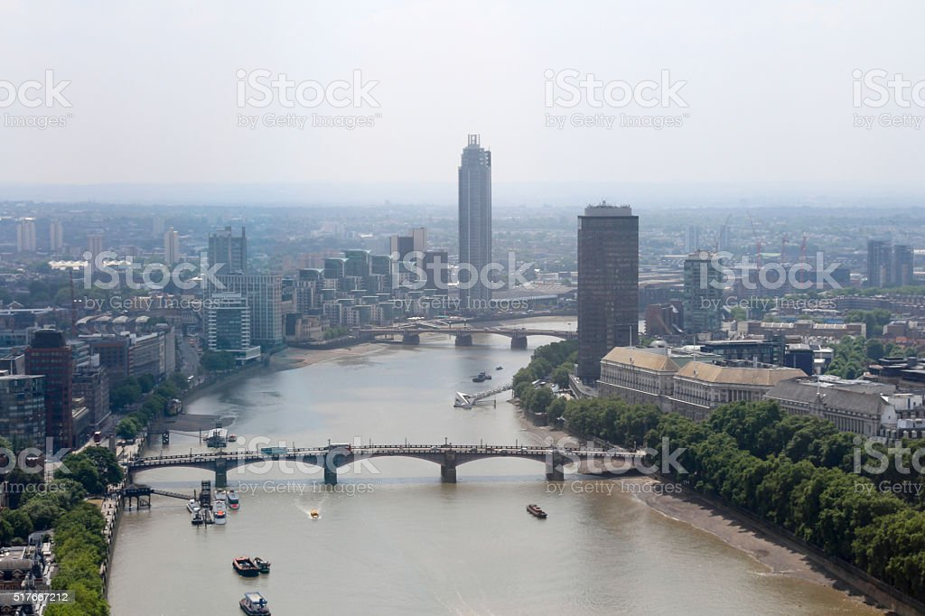 View of the Thames stock photo