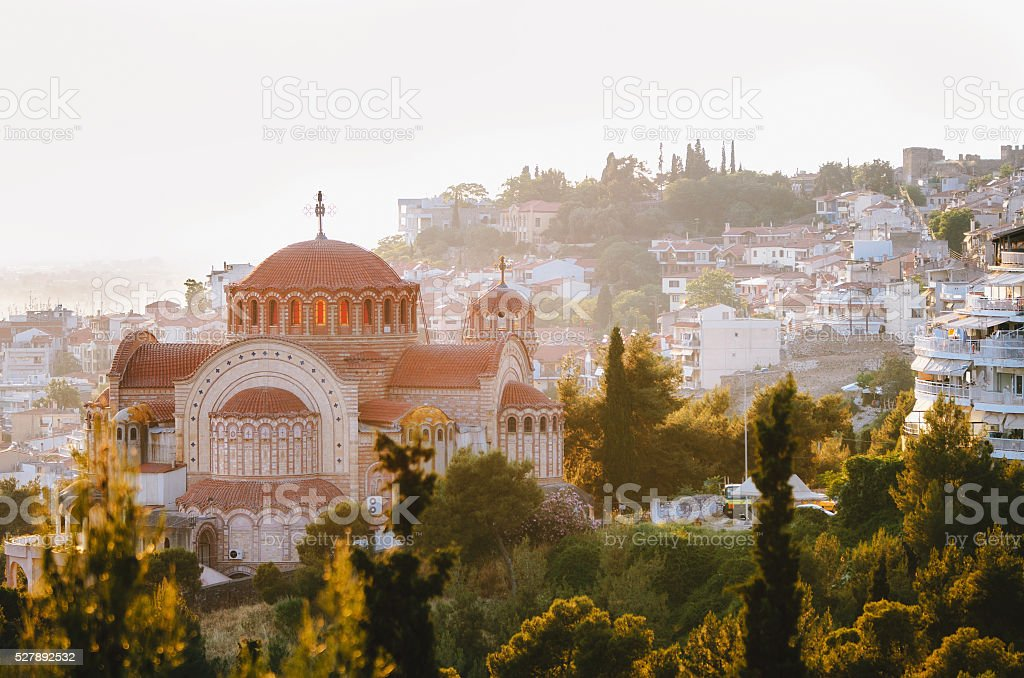 View of the Thessaloniki city, Greece stock photo