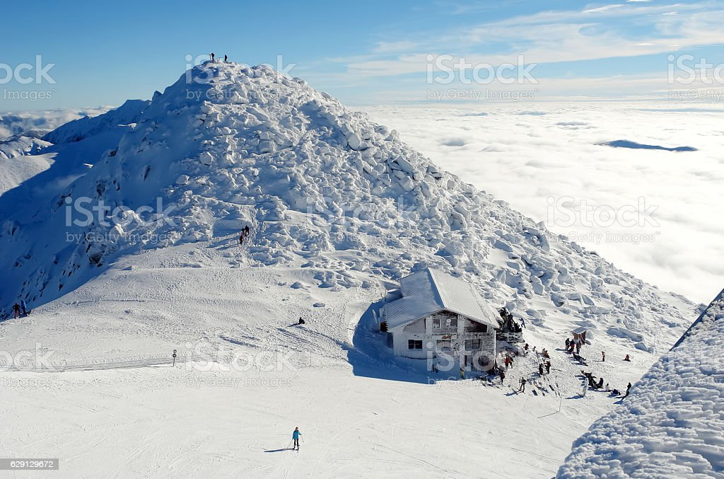 View of the top of the mountain Chopok. stock photo
