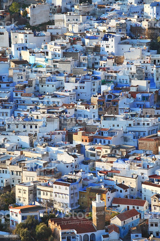 View of the town Chefchaouen, Morocco royalty-free stock photo