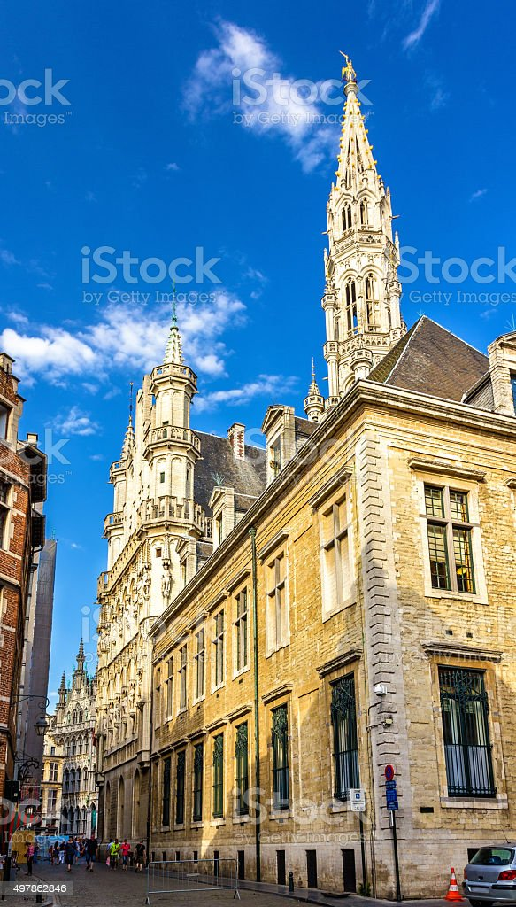 View of the Town Hall of Brussels - Belgium stock photo