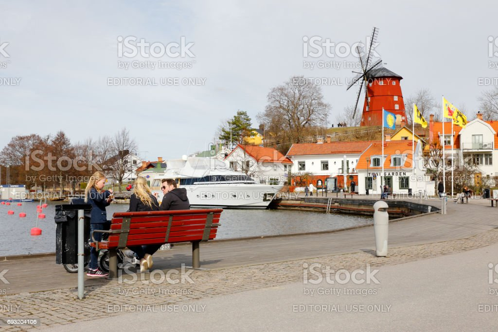 View of the town Strangnas stock photo
