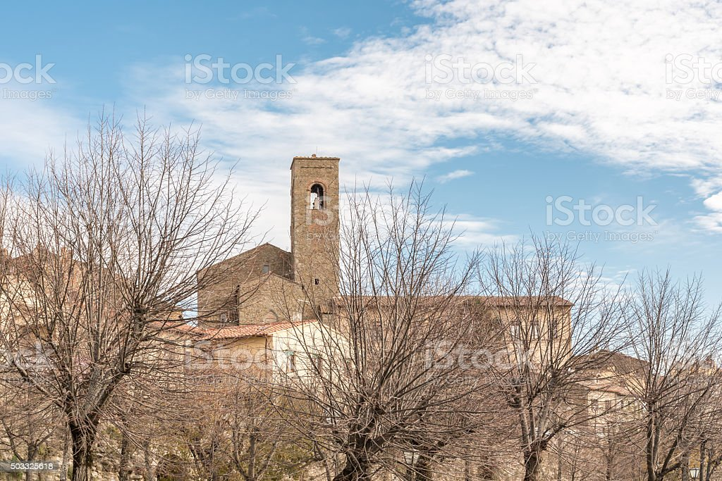 View of the Tuscany city of Cortona stock photo