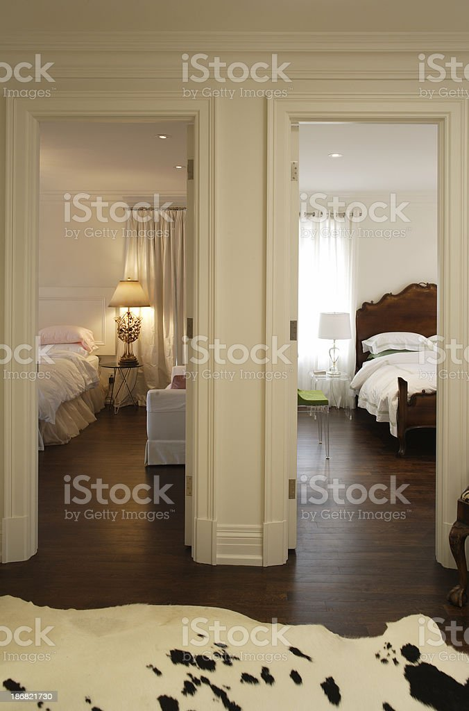View of the two rooms royalty-free stock photo