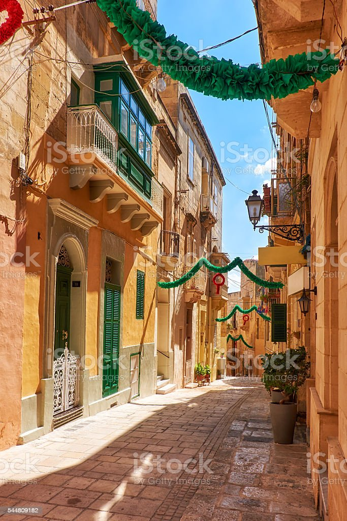 A view of the typical small street (Saint Dominic), stock photo