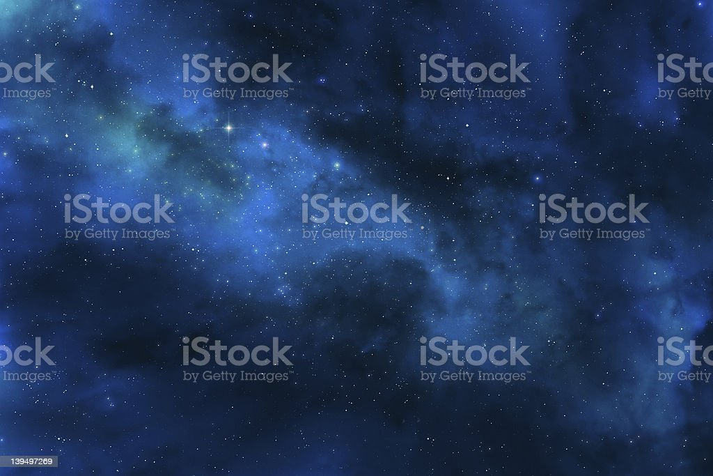 View of the universe including the galaxy and distant stars royalty-free stock photo