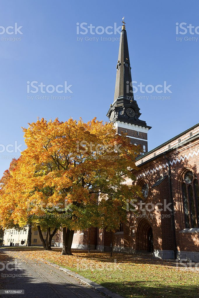 View of the Vasteras Cathedral stock photo