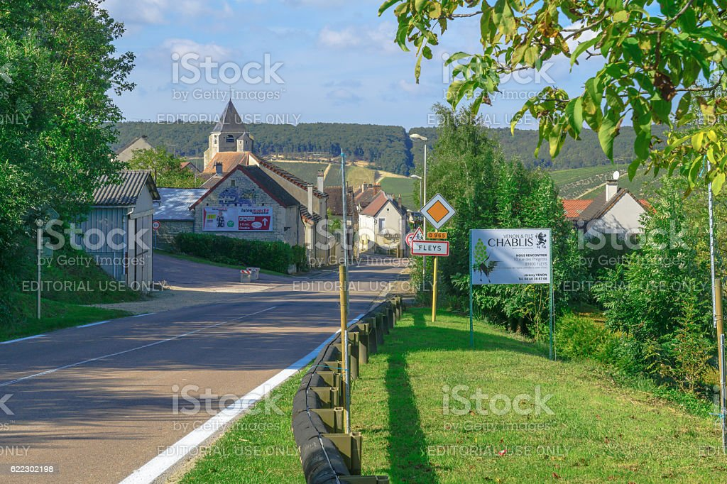 View of the village Fleys stock photo