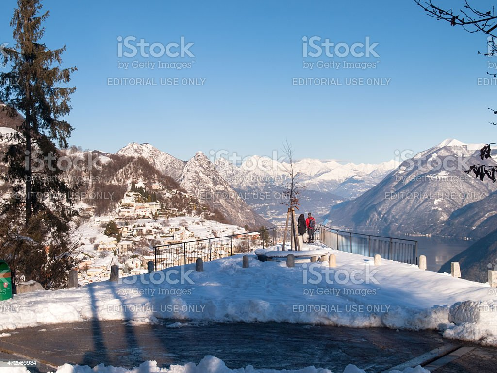 view of the village of Bre stock photo