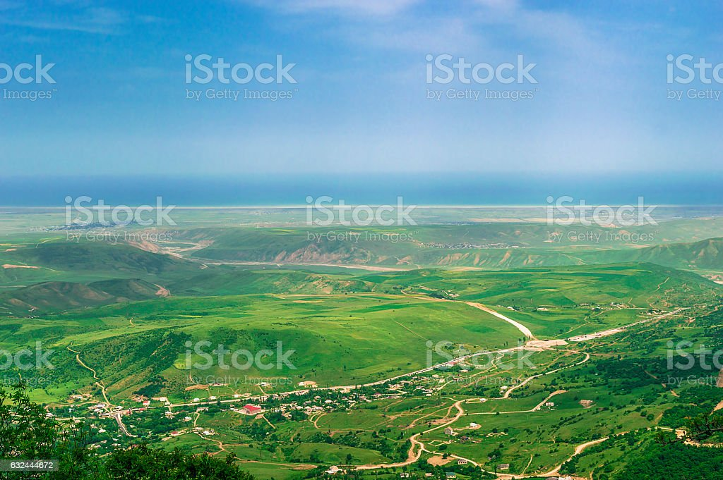 View of the village stock photo