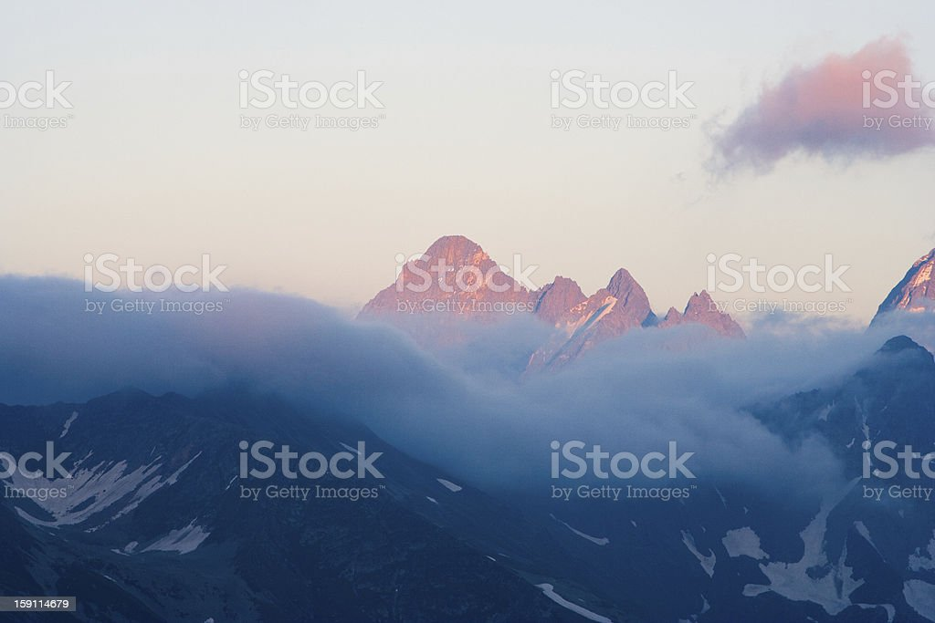 View of the Western Caucasus royalty-free stock photo
