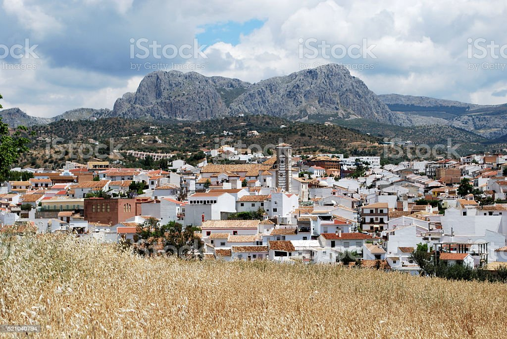 View of the white village, Rio Gordo. stock photo