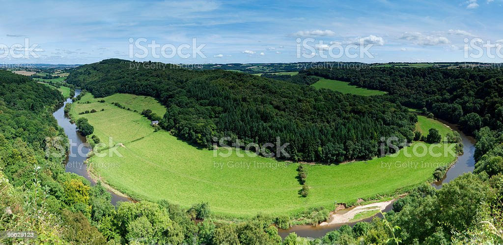 View of the Wye Valley from Symonds Yat stock photo