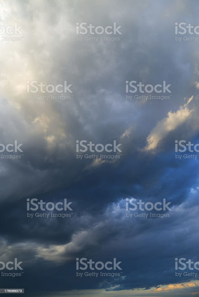 View of thunderstorm clouds. royalty-free stock photo