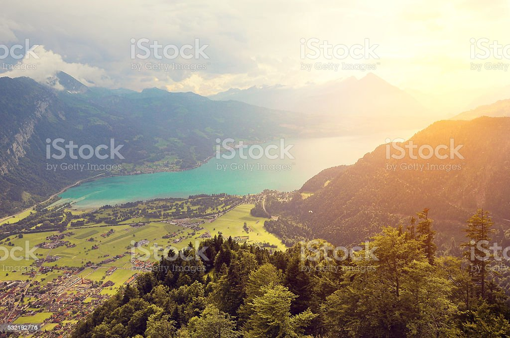 View of Thunersee. stock photo