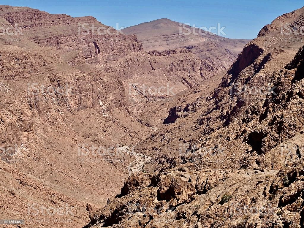 View of Todra Gorge, Morocco stock photo