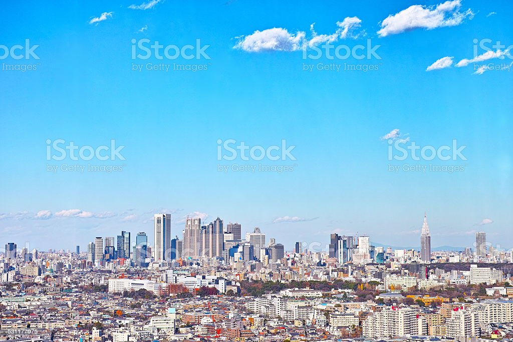 View of Tokyo stock photo