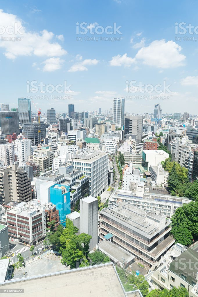 View of Tokyo urbanscape in Jinbo-cho, Tokyo, Japan stock photo