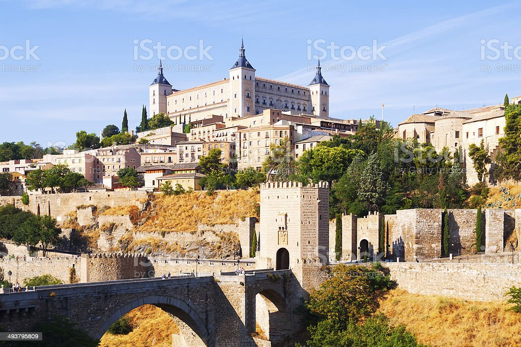 View of  Toledo in sunny summer day stock photo