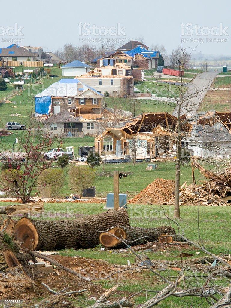 View of Tornado Alley-Nixa Missouri royalty-free stock photo