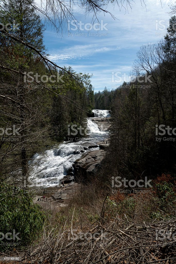 View of Triple Falls stock photo