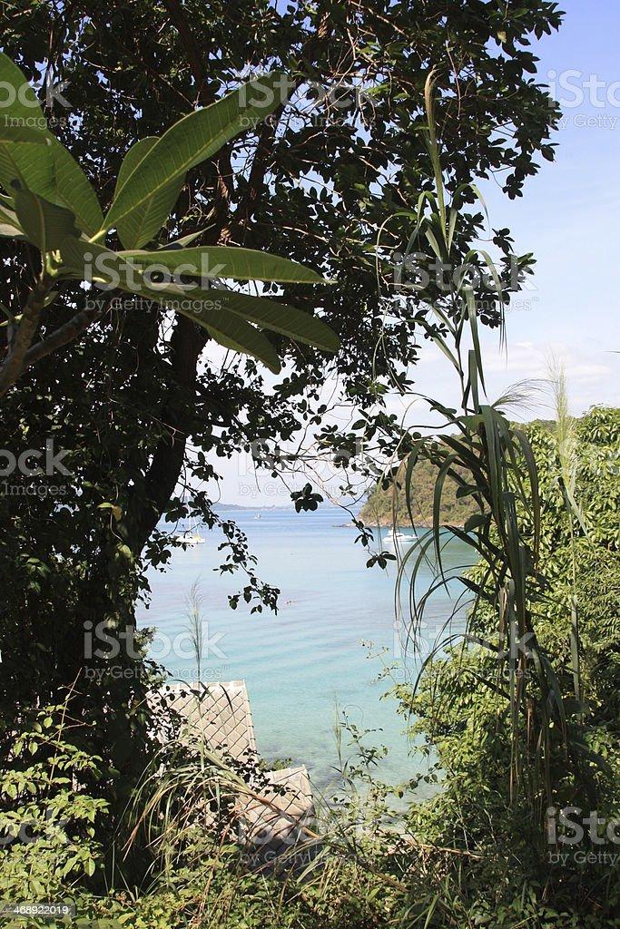 Vista da Lagoa tropical na Tailândia foto de stock royalty-free