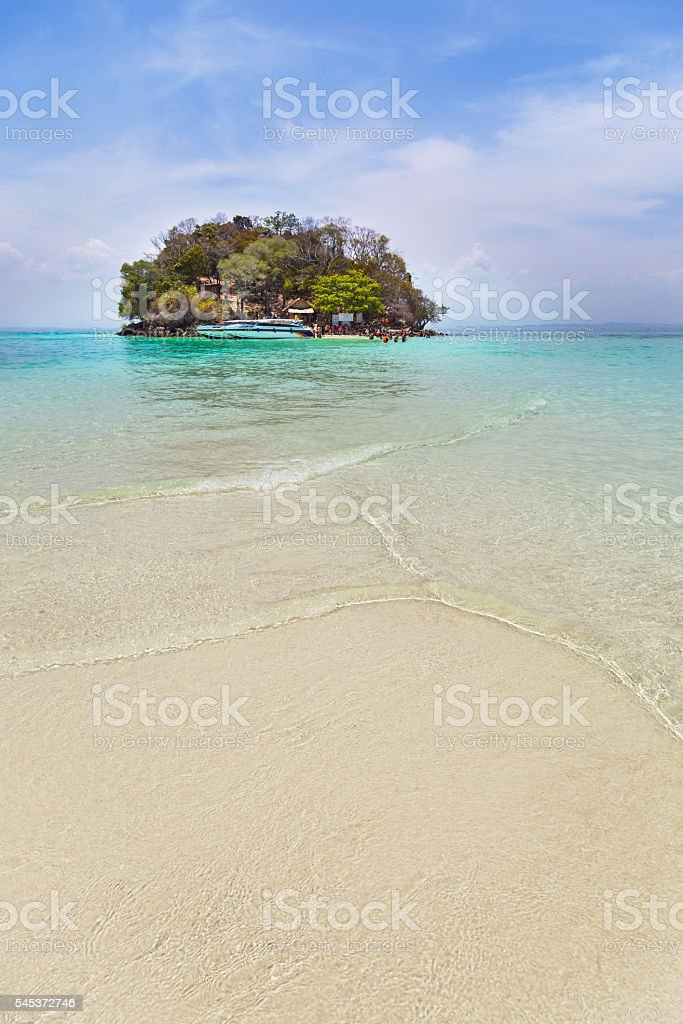 view of tub island in Krabi, Thaiand. stock photo