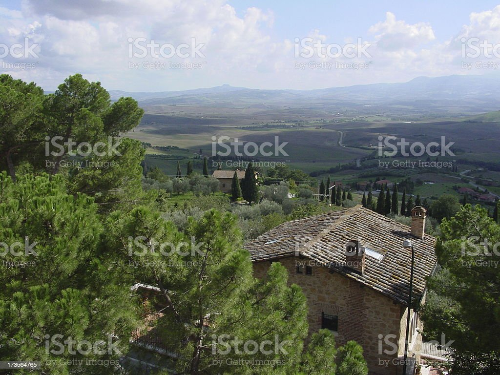 View of Tuscan Landscape from Pienza royalty-free stock photo