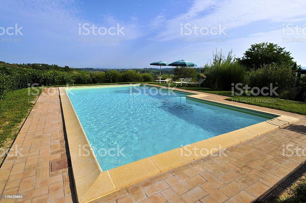 View of Tuscany,Italy stock photo