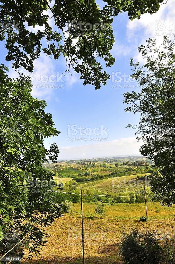 View of Tuscany,Italy royalty-free stock photo