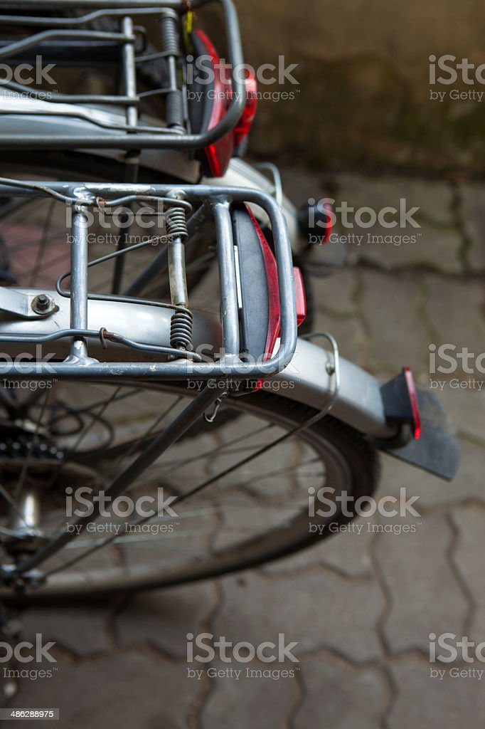 View of two bikes, rear royalty-free stock photo